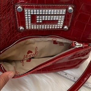 Guess Bags - Guess animal faux leather bling crystal crossbody
